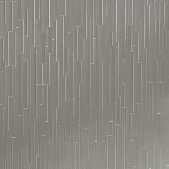 614 Striations Brushed Stainless - Lamin-Art