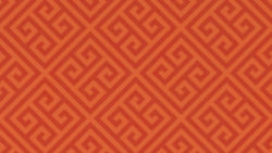 9493 Orange Greek Key - Formica