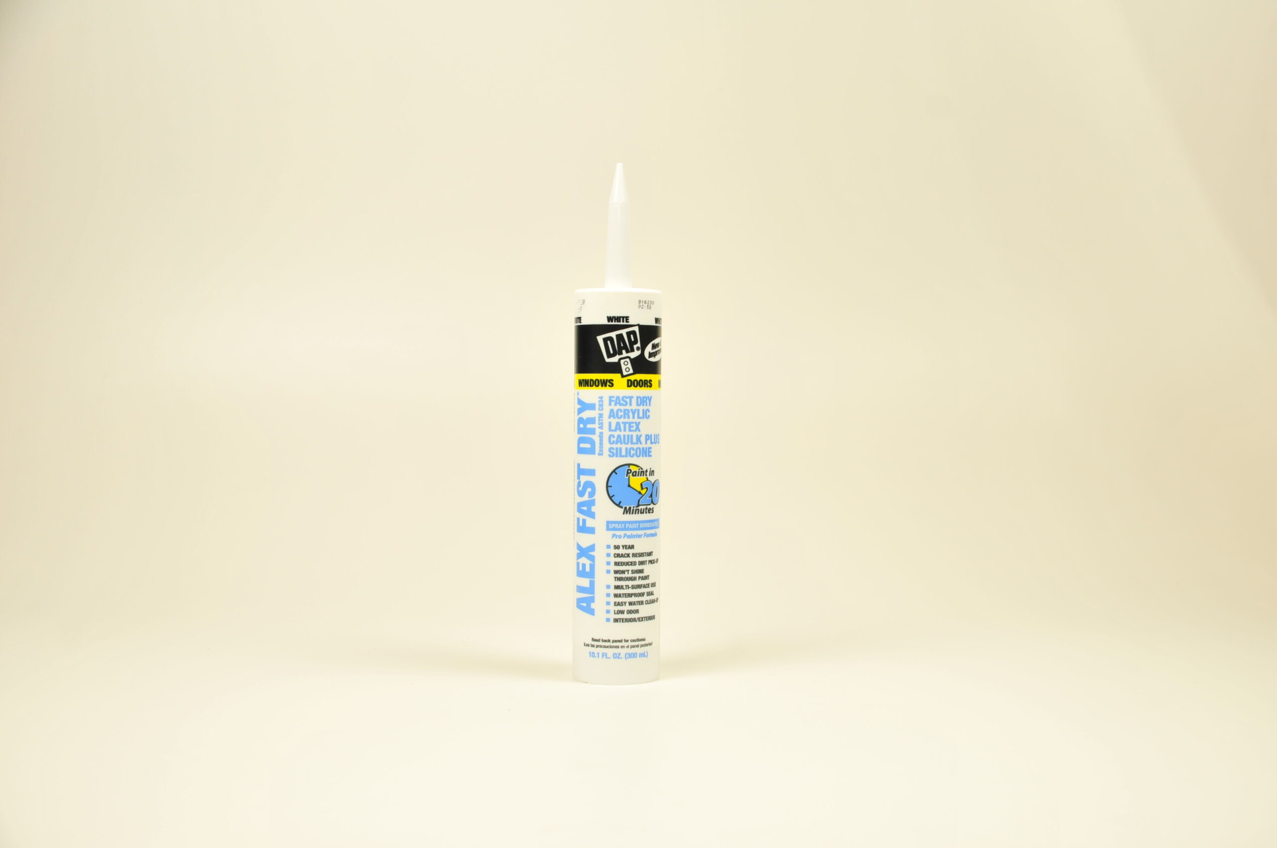 Caulk - White Dap Alex Fast Dry Part#18425